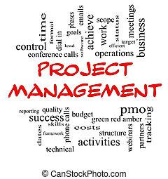 dirección, palabra, tapas, proyecto, concepto, nube, rojo