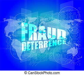 dirección, pantalla, fraude, palabras, digital, concept:, ...