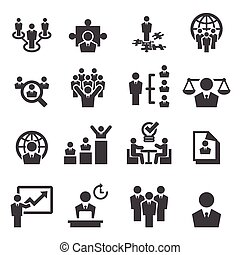 dirección, recursos humanos, iconos