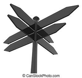 dirección, señales, concepto, dirección