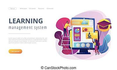 dirección, sistema, page., aprendizaje, aterrizaje, concepto