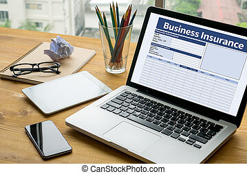 dirección, trabajo, seguro, empresa / negocio