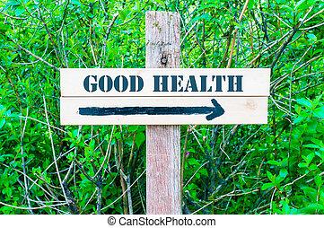 direccional, buena salud, señal