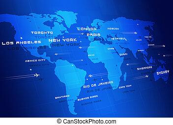 direcciones, aviación,  global