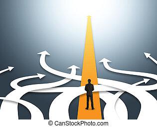 direcciones, diferente, empresa / negocio