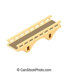 Direct bridge icon, cartoon style