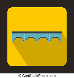 Direct bridge icon, flat style