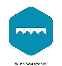 Direct bridge icon, simple style