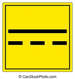 Direct Current DC Symbol Sign Isolate On White Background,Vector Illustration EPS.10