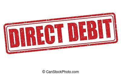 Direct debit stamp - Direct debit grunge rubber stamp on...