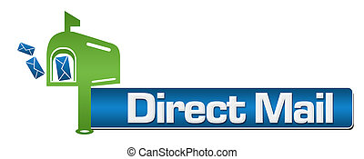 Direct Mail Green Blue Symbol Stripe - Direct mail concept...