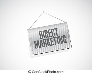 direct marketing banner sign concept