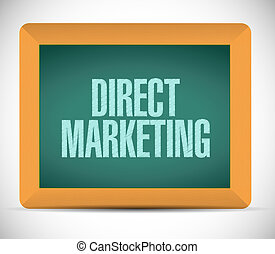 direct marketing chalkboard sign concept