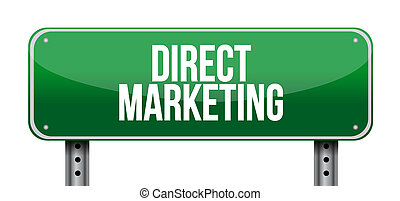 direct marketing road sign concept