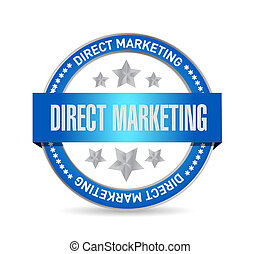 direct marketing seal sign concept