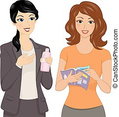 Direct Selling - Illustration Featuring a Direct Seller...