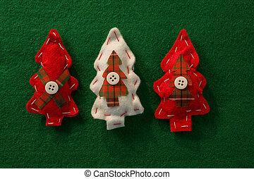 directamente, árbol, sobre, decoración de navidad, tiro