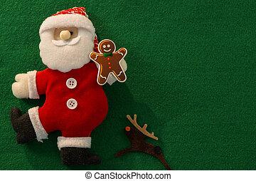 directamente arriba, decoración de navidad, tiro