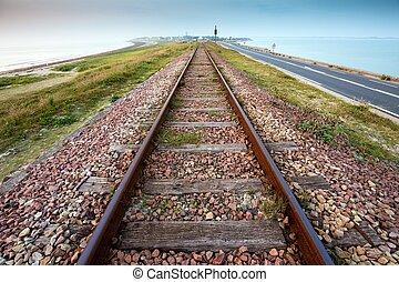 directement, ferroviaire, perspective