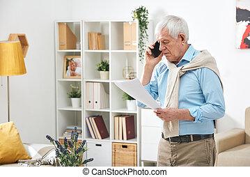 directeur, appeler, termes, questions, document