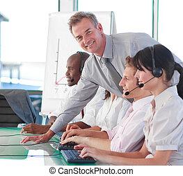 directeur, calldesk, zakelijk
