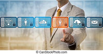 directeur, choix, données, bloc, dans, blockchain, système