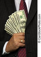 directeur, factures, dollar
