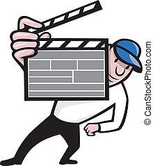 directeur, film, bardeau, dessin animé