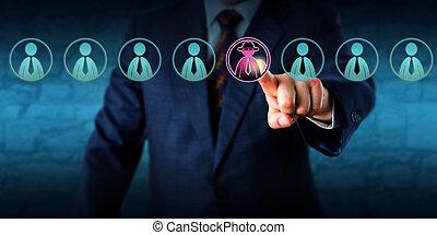 directeur, identifier, potentiel, initié, menace