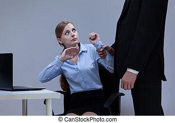 directeur, intimider, sien, employé