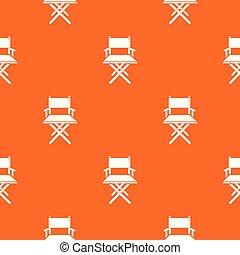 directeur, modèle, chaise, vecteur, orange