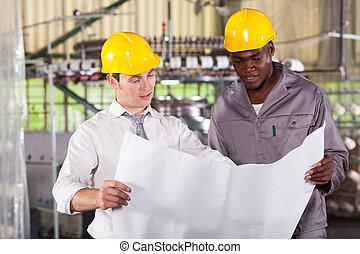 directeur, ouvrier, usine