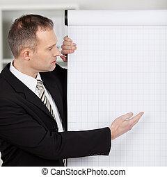 directeur, pointage, flipchart