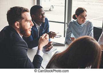directeur, réunion, equipe affaires