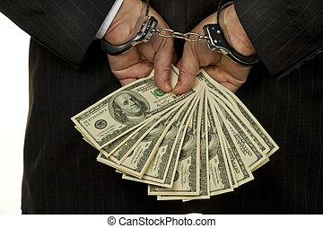 directeur, rekeningen, dollar