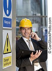 directeur, site construction