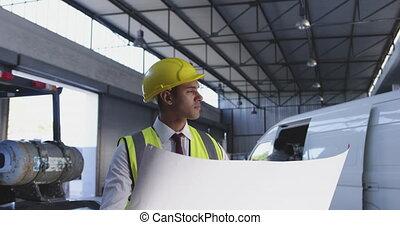 directeur, tenue, mâle, plan, 4k, entrepôt