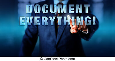 directeur, toucher, document, everything!