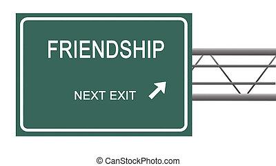 direction, à, amitié