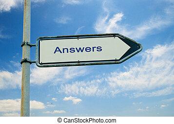 direction, à, réponses