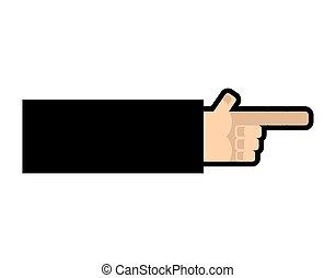 direction., 指すこと, 手, 指, 矢, ビジネスマン, 腕