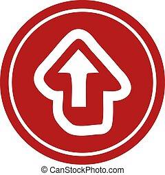 direction arrow circular icon