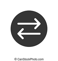 direction arrow like transfer. simple flat trend modern linear logotype graphic art design isolated on white background. concept of info fast transference for website and abstract traffic
