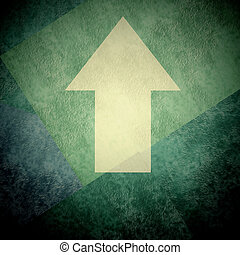 direction arrow sign up grunge background - direction arrow...