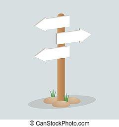 Direction arrow sign
