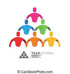 direction, connecté, équipe