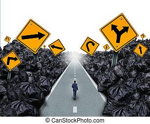 direction, déchets