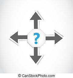 direction decision arrow