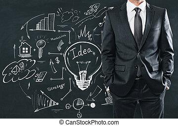 direction, et, finance, concept