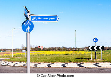 Direction for Business Parks in Bury St Edmunds, England
